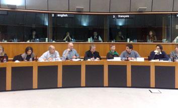 Ir a Agricultores, ecologistas y consumidores denuncian en el Parlamento Europeo los impactos socioeconómicos de los transgénicos en España