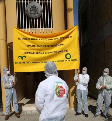 Ir a Protestas ante las embajadas españolas en la UE contra los transgénicos