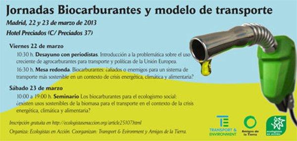 Ir a Madrid: Jornadas Biocarburantes y modelo de transporte