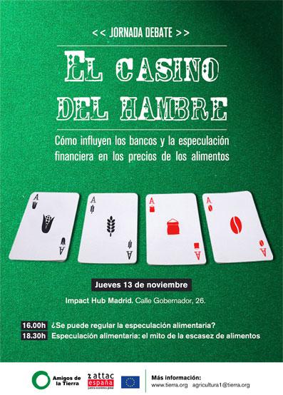 Ir a Jornada debate. El Casino del hambre: cómo influyen los bancos y la especulación financiera en el precio de los alimentos