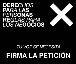 """Ir a Necesitamos tu Voz, ¡firma!: """"Derechos para las personas, reglas para los negocios"""""""