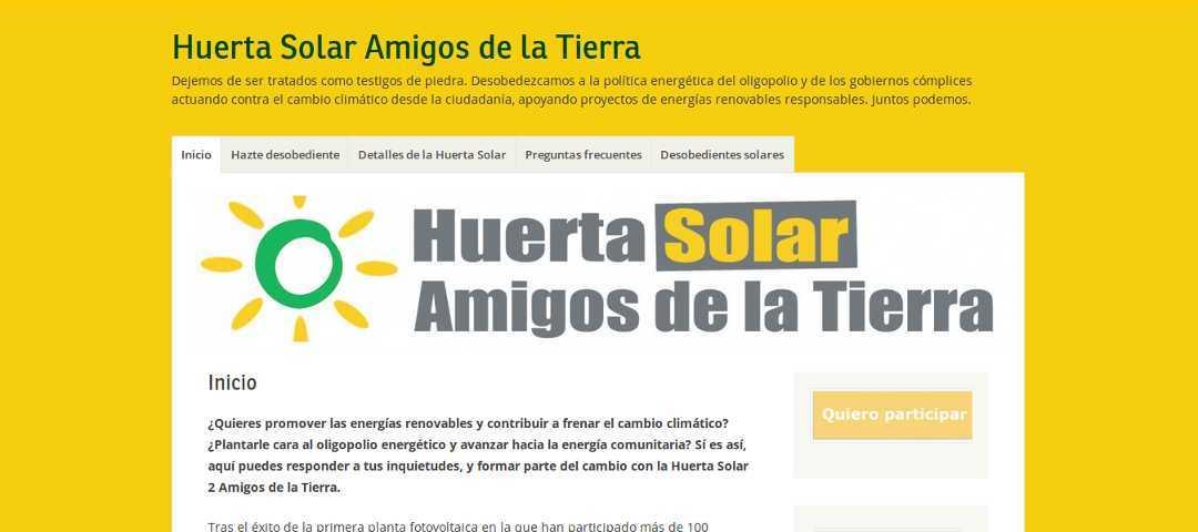 Ir a Huerta Solar Amigos de la Tierra