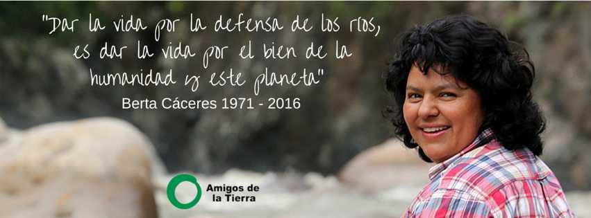 Ir a Condena del crimen contra Berta Cáceres, activista asesinada, y Gustavo Castro