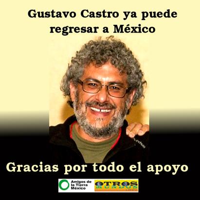 Ir a El activista Gustavo Castro regresa a México tras 24 días de retención en Honduras