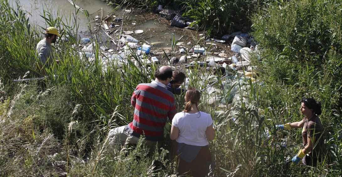 Ir a Más de 300 kilos de residuos recogidos en 1 hora en el río Segura