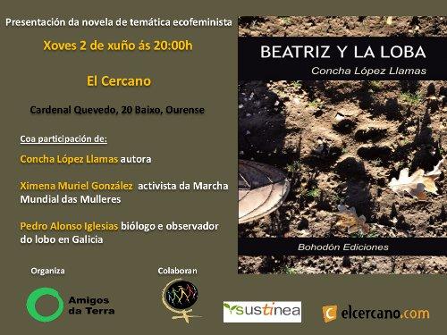 """Ir a Ourense: Presentación de la novela ecofeminista """"Beatriz y la loba"""""""