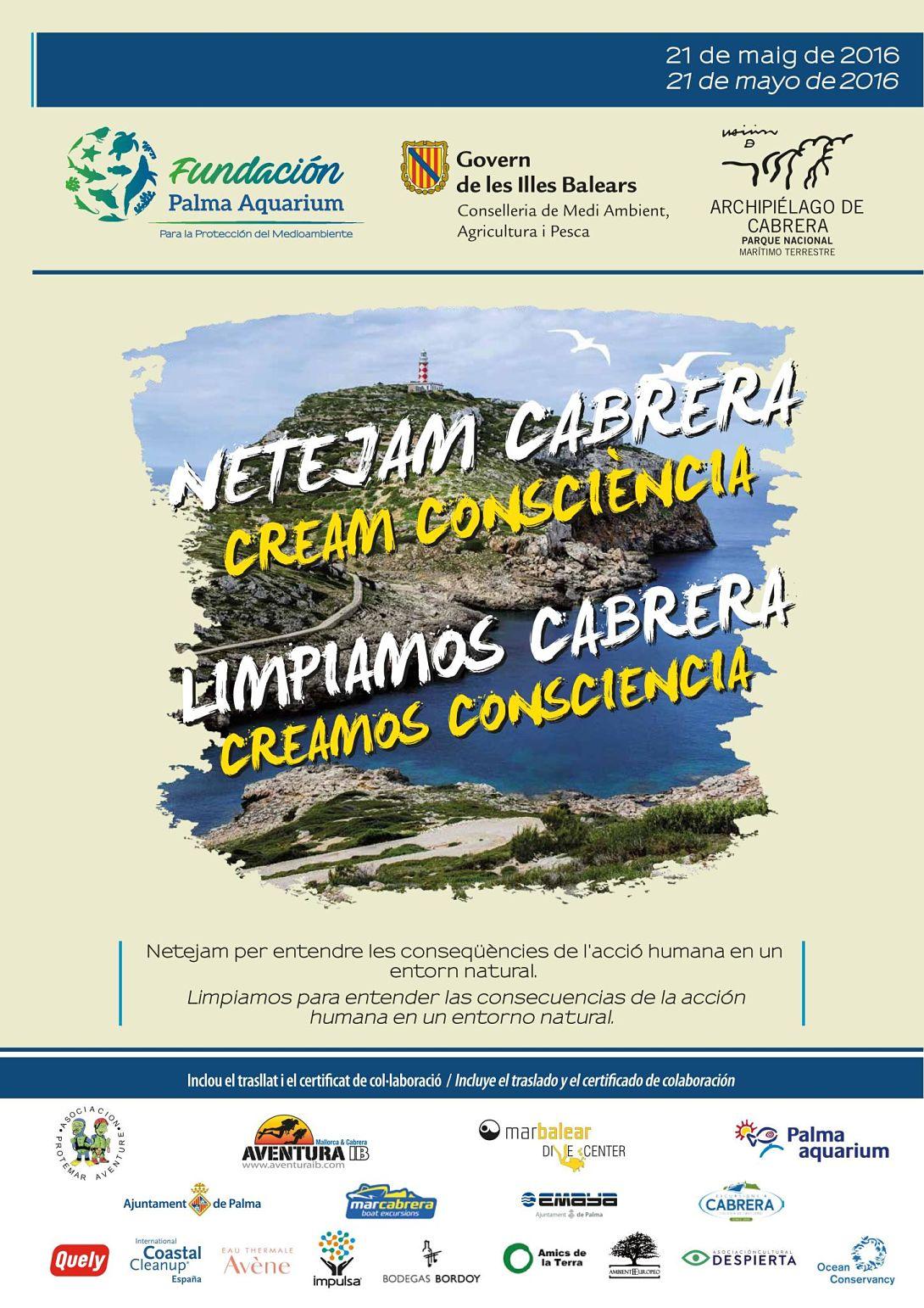 Ir a Mallorca: Jornada de voluntariado ambiental de limpieza de litoral en el Parque Nacional de Cabrera