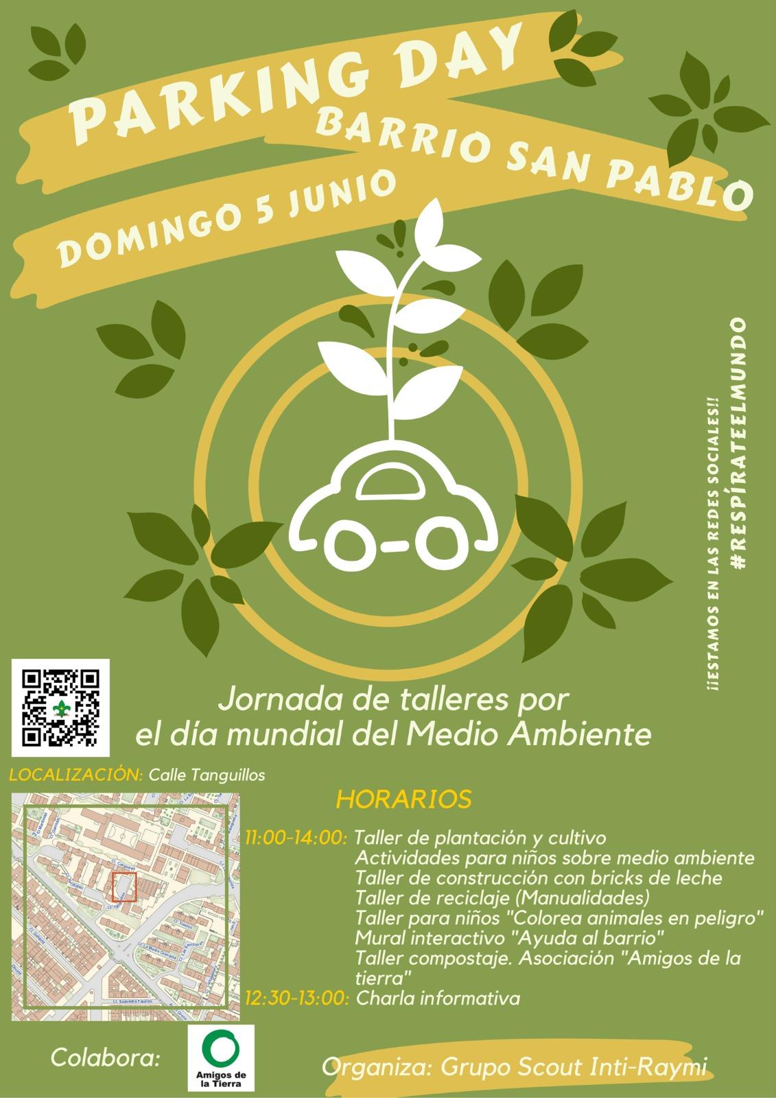 Ir a Sevilla: Parking Day para celebrar el Día del Medio Ambiente