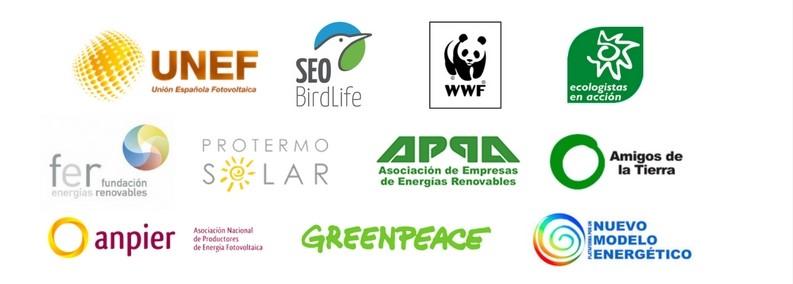 Ir a Asociaciones empresariales, organizaciones medioambientales y entidades de la sociedad civil exigen el desbloqueo de las energías renovables