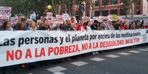 Manifestación contra la pobreza y el TTIP y CETA