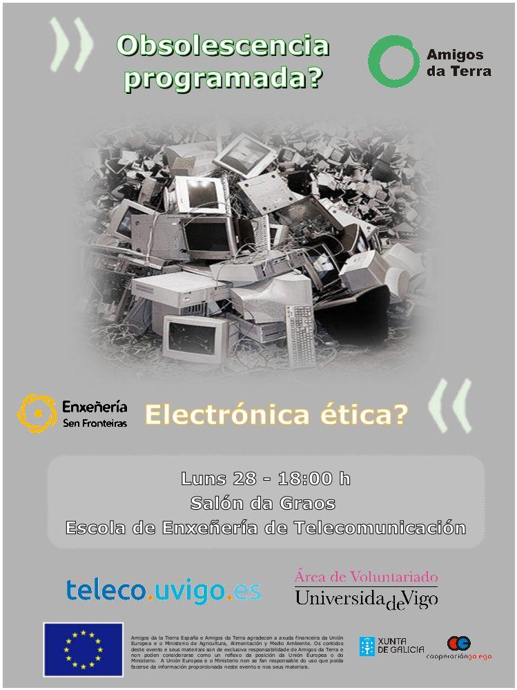 Ir a Vigo: Charla obsolescencia programada y electrónica ética