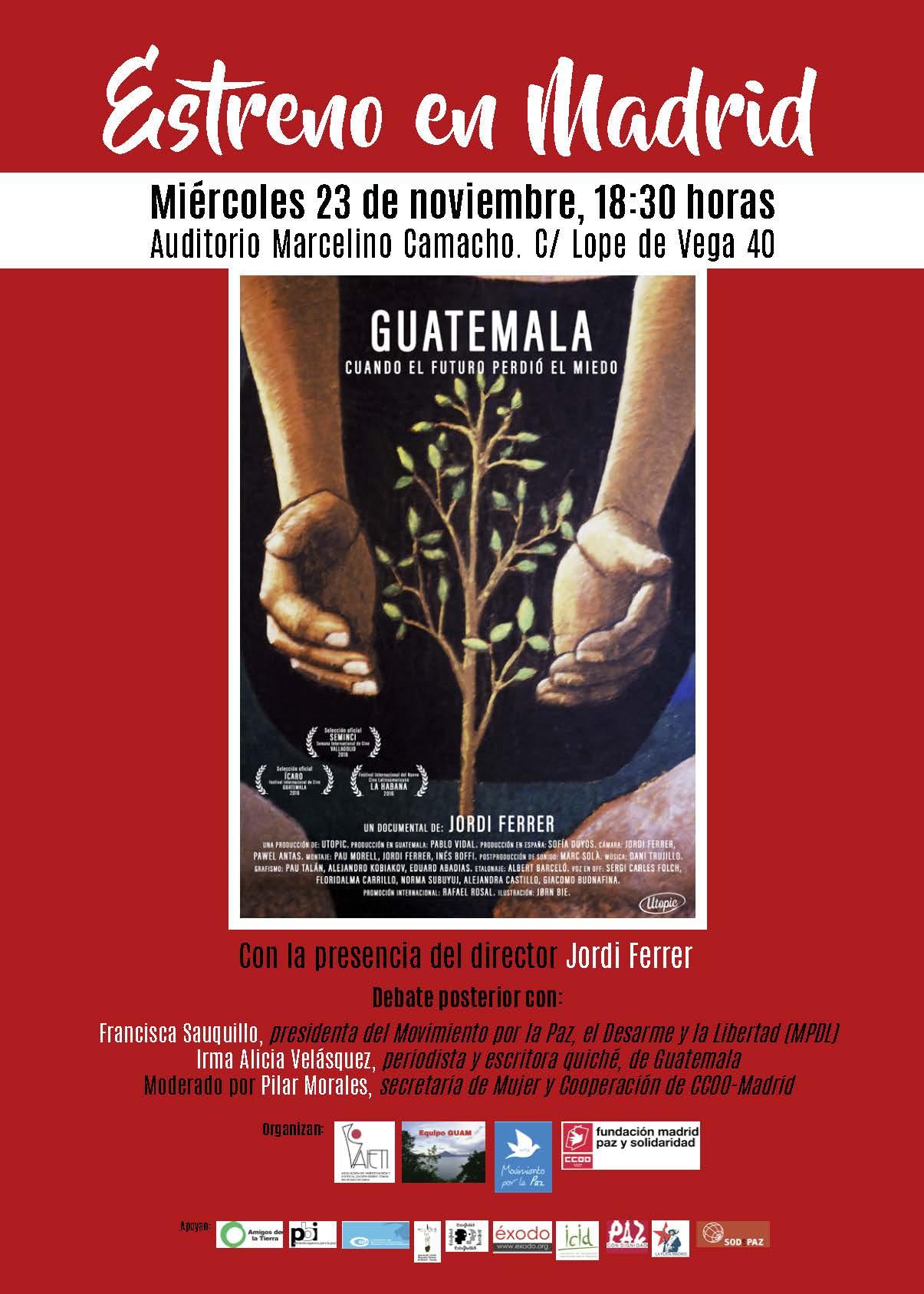 Ir a Presentación del documental: «Guatemala, cuando el futuro perdió el miedo»