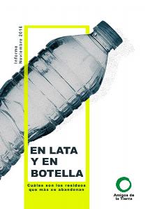 portada informe en lata y en botella