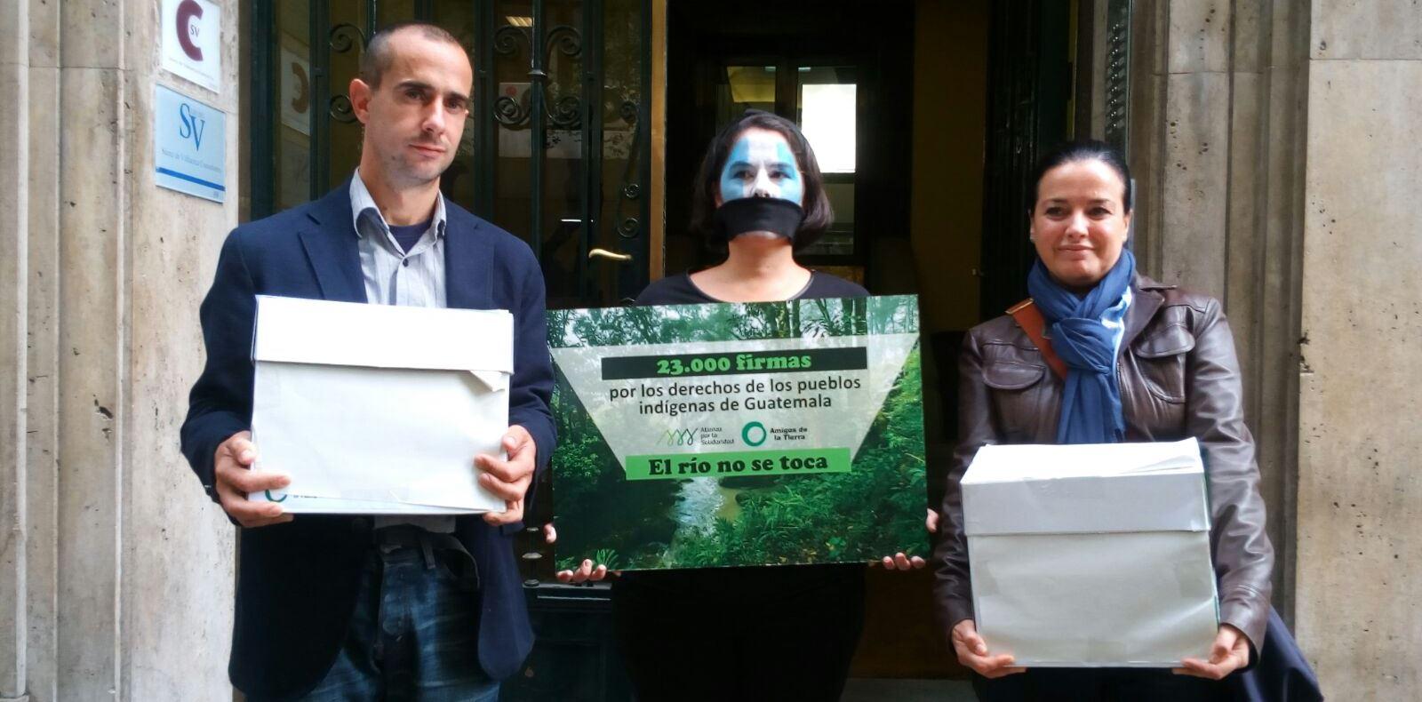 en favor de los derechos indígenas de Barillas, Guatemala