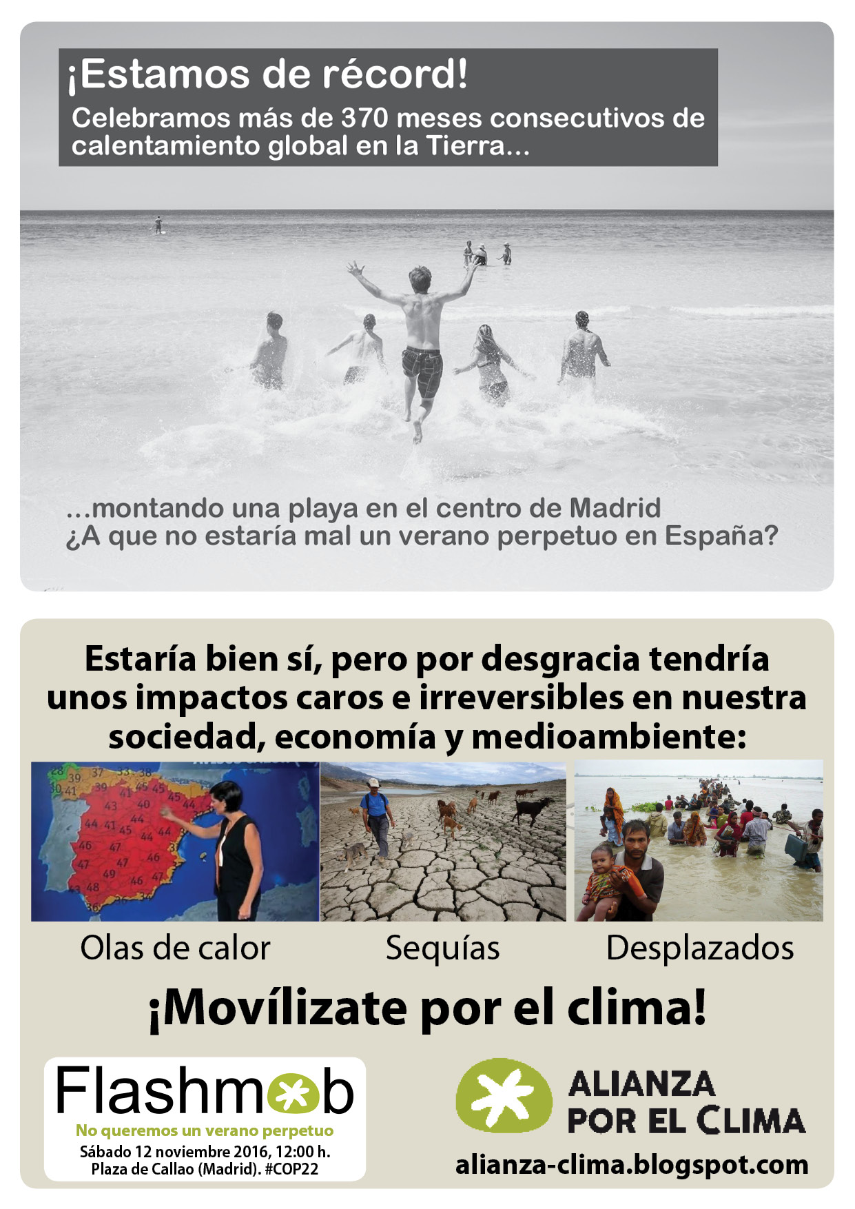 flash mob en Madrid de Alianza por el Clima