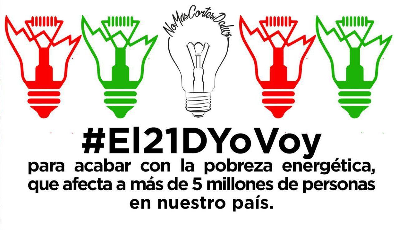 Ir a La plataforma #NoMásCortesDeLuz convoca movilizaciones contra la pobreza energética
