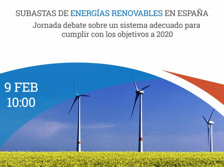 Ir a Madrid: Jornada Subastas de Energías Renovables en España