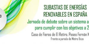 Jornada Subastas de Energías Renovables