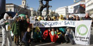 acción en Madrid por la prohibición del glifosato