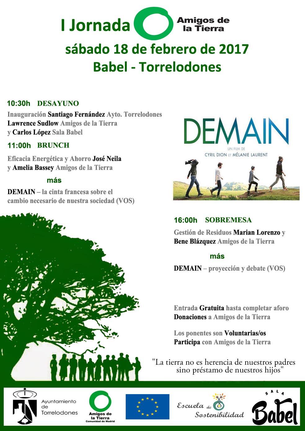 Ir a Madrid: I Jornada Amigos de la Tierra en Torrelodones