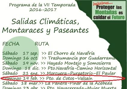 Ir a Madrid: LXII Salida Climática – Cotos a Valsaín