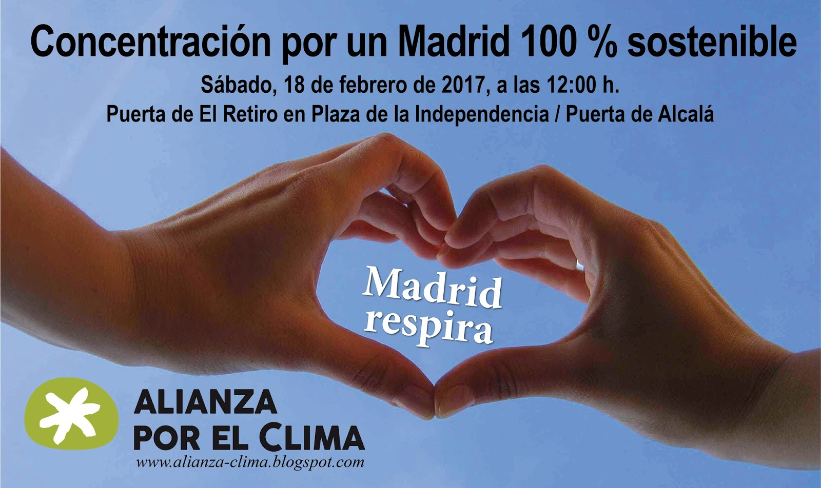 Ir a Madrid: Concentración por un Madrid 100 % sostenible