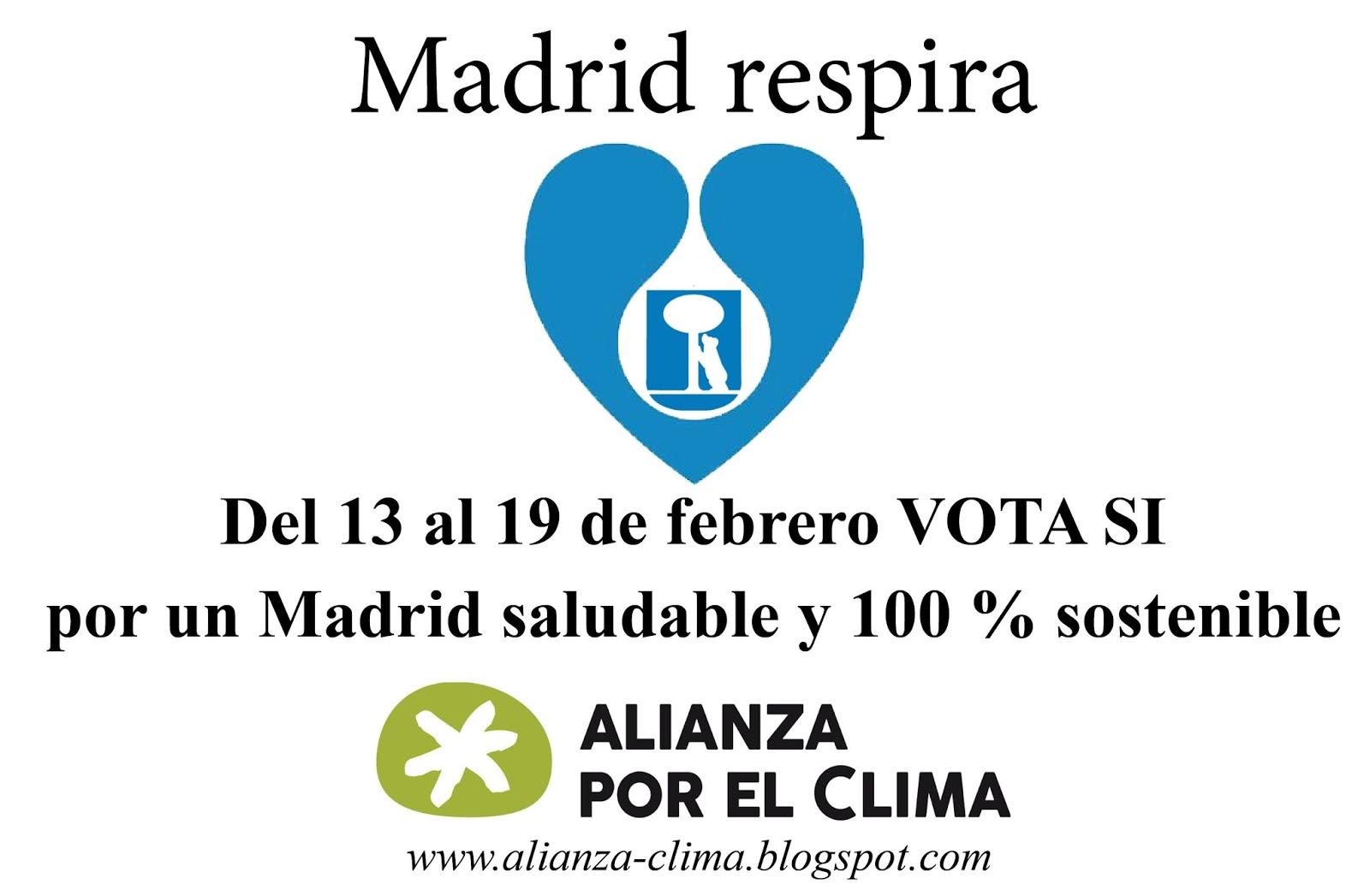 Ir a Alianza por el Clima pide a la ciudadanía que voten por un Madrid 100% sostenible