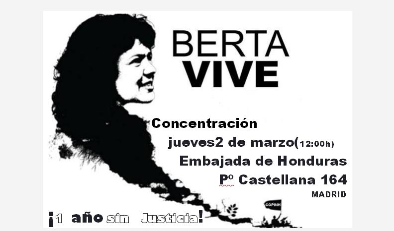 Ir a Madrid: Concentración BERTA VIVE