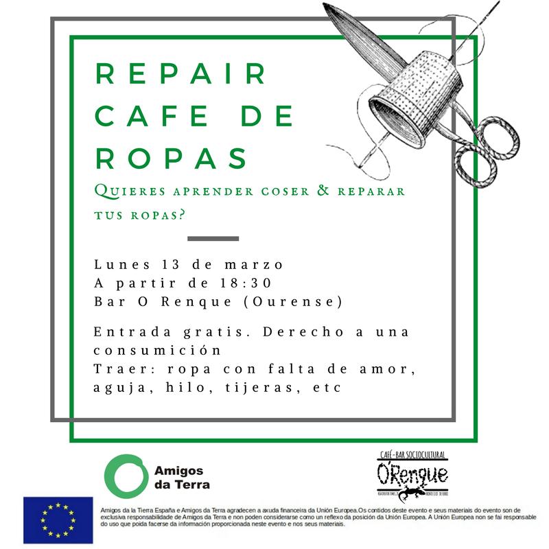 Ir a Ourense: Repair Café de Ropa