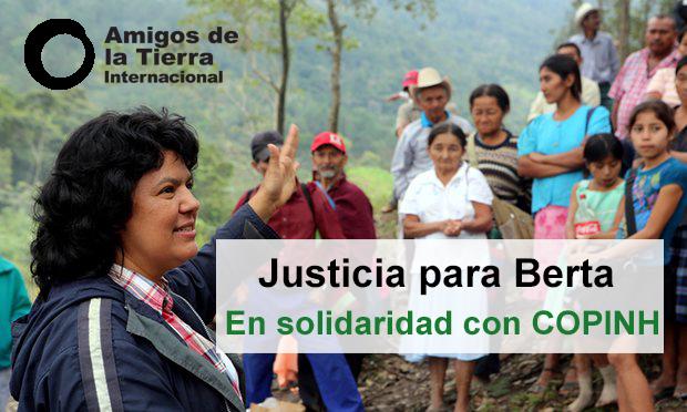 Justicia para Berta Cáceres. Aniversario del asesinato de Berta Cáceres