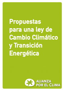 propuestas Alianza por el Clima Adaptación