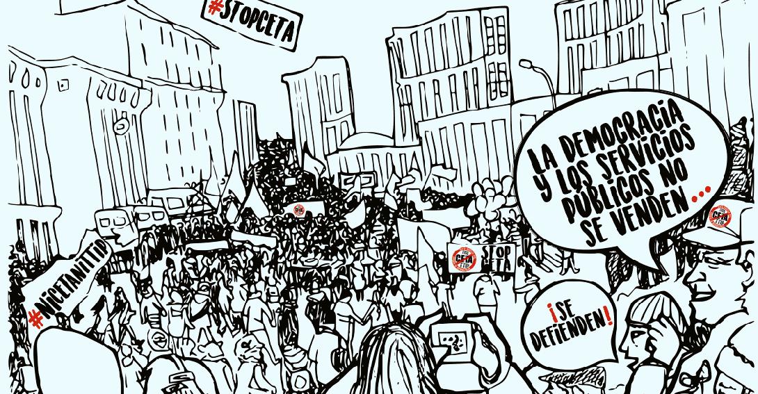 Ir a Madrid, Manifestación contra el CETA