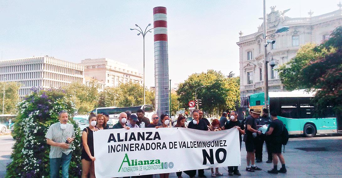 """Ir a La Alianza """"Incineradora de Valdemingómez No"""" reclama acabar con la incineración en Madrid"""