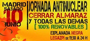 Ir a Madrid: Cerrar Almaraz y todas las demás – 100% renovables