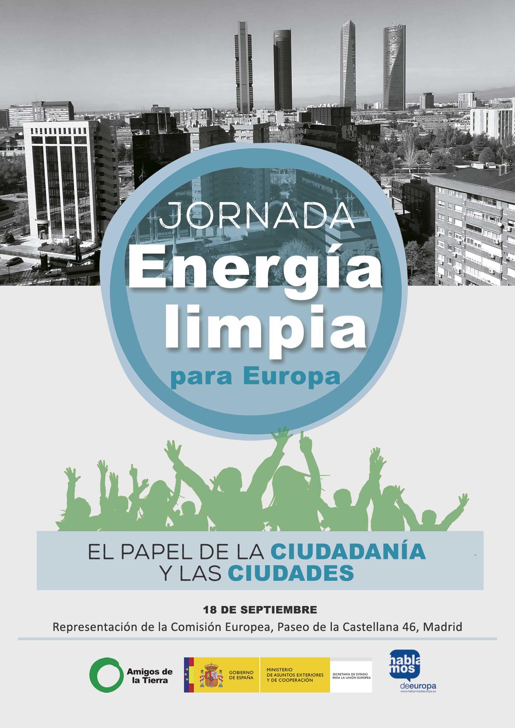 Ir a Madrid. Jornada: Energía Limpia para Europa, el papel de la ciudadanía y las ciudades