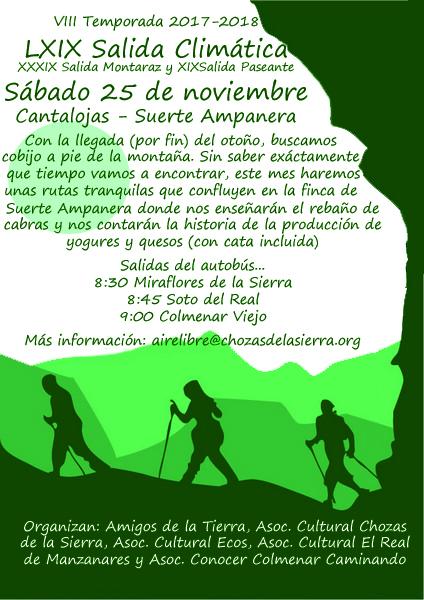 Ir a Madrid: LXIX Salida Climática con visita a Suerte Ampanera