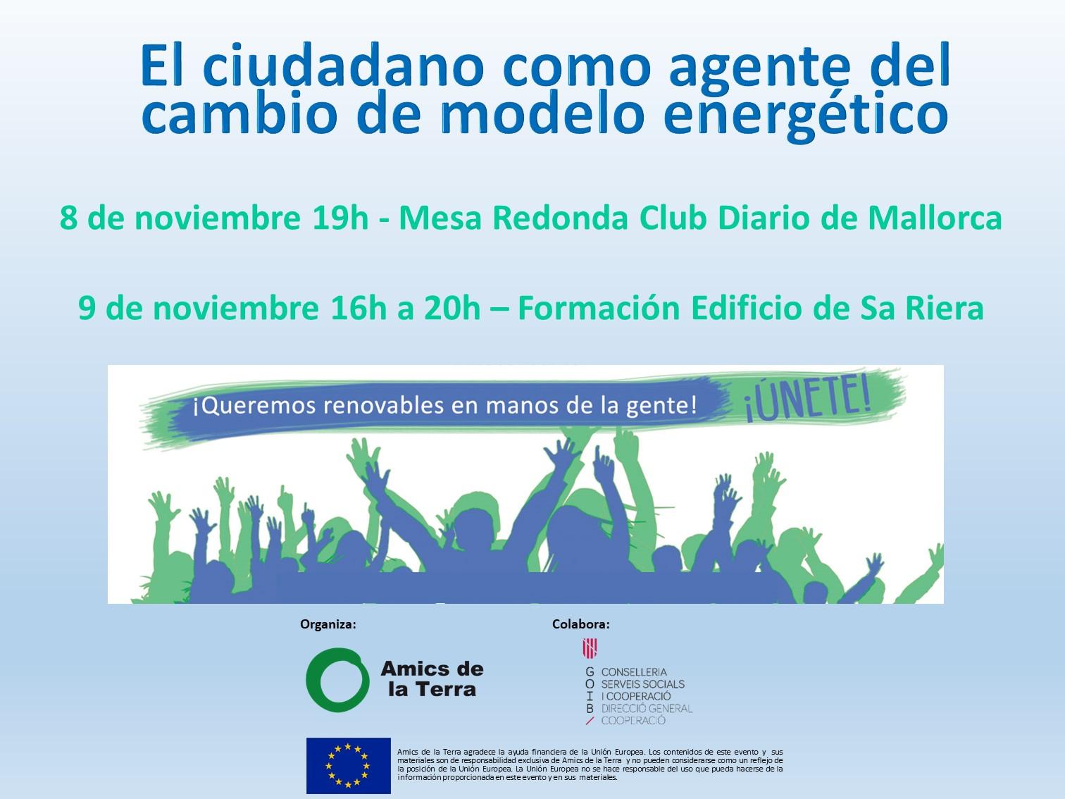 Ir a Mallorca: El ciudadano como agente del cambio de modelo energético