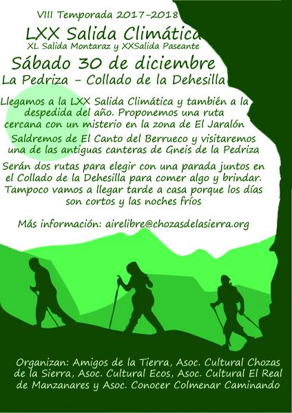 Ir a Madrid: LXX Salida Climática 30 de diciembre