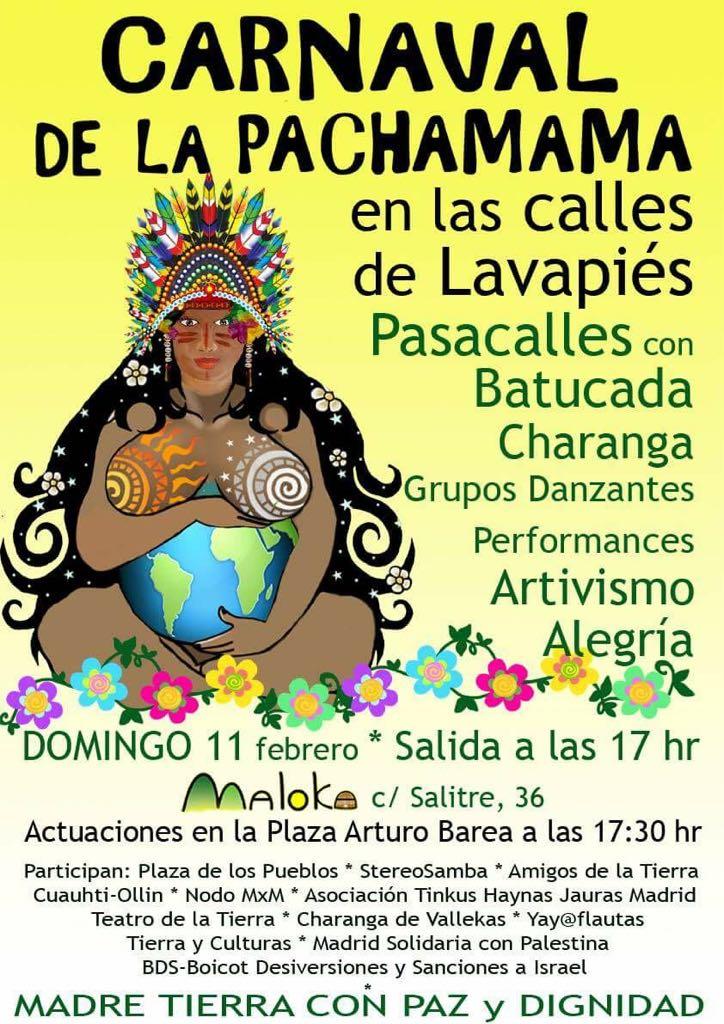 Ir a Madrid: Carnaval Pachamama – Pasacalles Festivo y Reivindicativo
