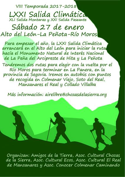 Ir a Madrid: LXXI Salida Climática por el Monumento Natural de Interés Nacional de la Peña del Arcipresie de Hita