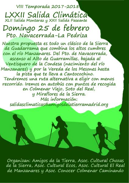 Ir a Madrid: LXXII Salida Climática por la Sierra de Guadarrama