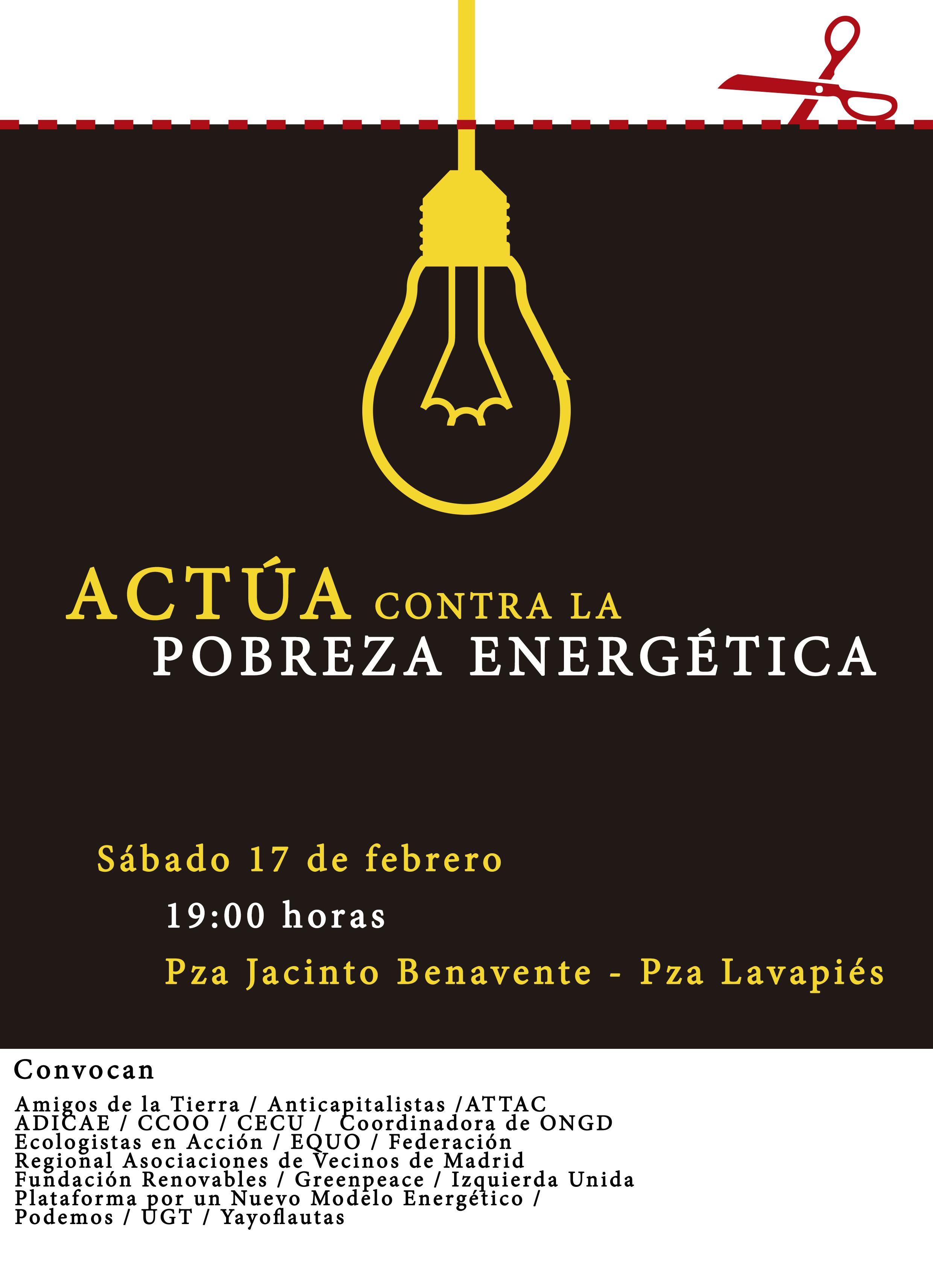 Ir a Madrid: Actúa contra la Pobreza Energética