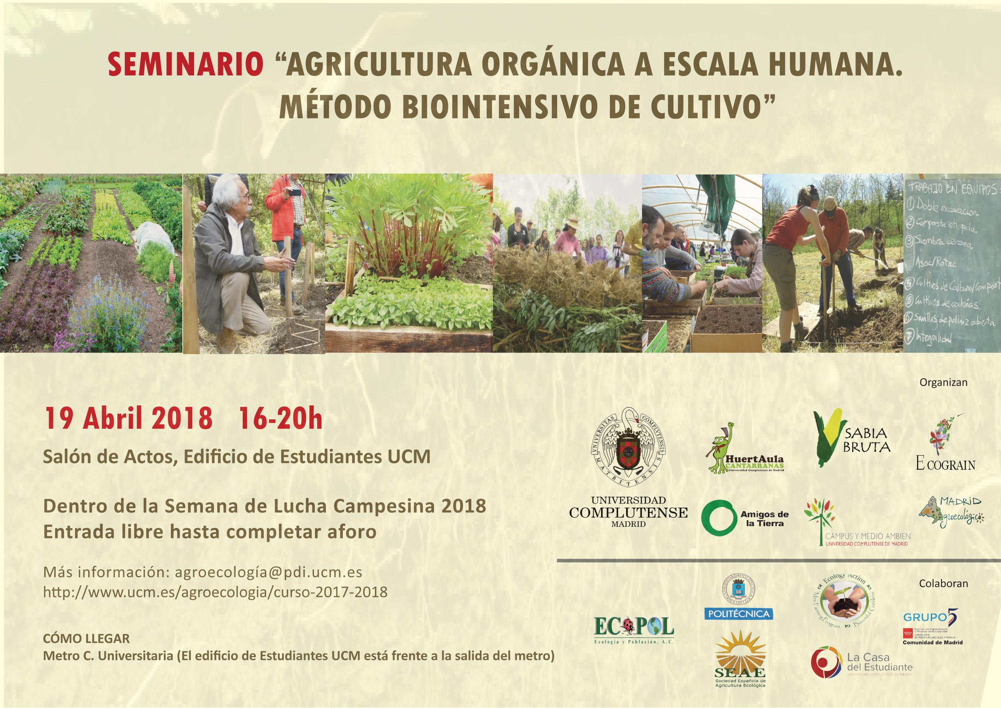 Ir a Madrid: Seminario «Agricultura Orgánica a Escala Humana. Método Biointensivo de Cultivo»
