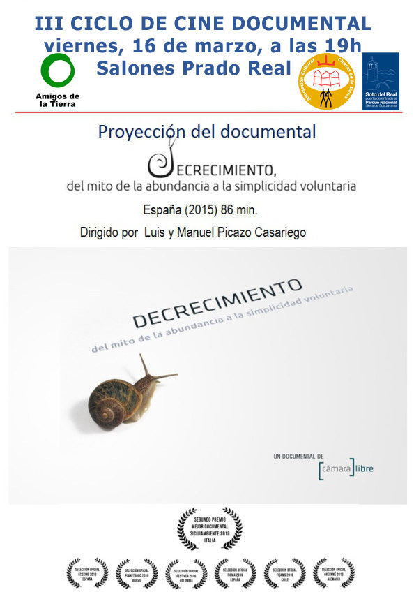 "Ir a Madrid: III Ciclo de Cine Documental – ""Decrecimiento"""