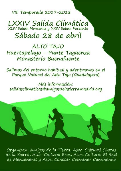 Ir a Madrid: LXXIV Salida Climática – Parque Natural del Alto Tajo