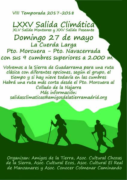 Ir a Madrid: LXXV Salida Climática, la Cuerda Larga