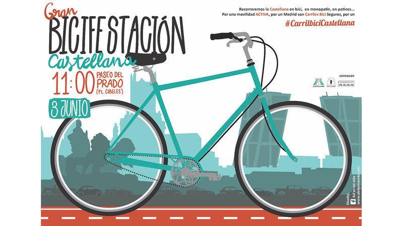 Ir a Madrid: Bicifestación para un carril bici en el Pº de la Castellana