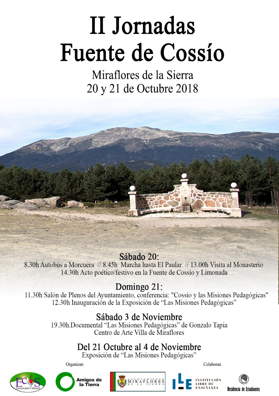 Ir a Madrid: Conferencia, exposición y documental «Cossío y las Misiones Pedagógicas»