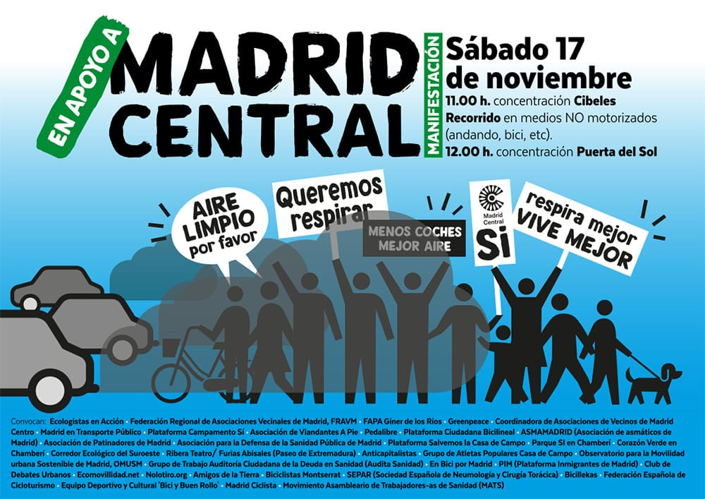 Ir a Madrid: Manifestación en apoyo a Madrid Central