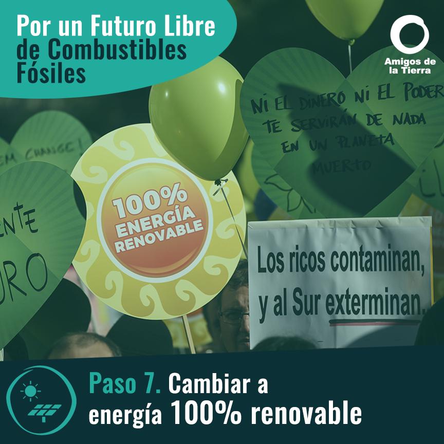 Ir a Paso 7: Cambiar a energía 100% renovable